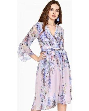 Little Mistress Curvy Floral Tea Dress size: 26 UK, colour: Print