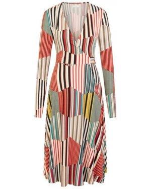 Kaleidoscope Long Wrap Dress size: M/L, colour: Print