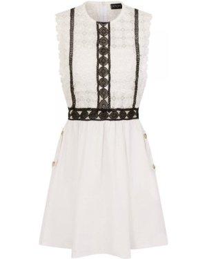 Kindred Sleeveless Crochet Dress size: S, colour: White