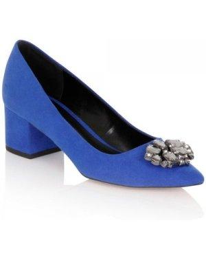 Little Mistress Footwear Ananke Cobatl Brooch Mid Court Shoe size: Foo