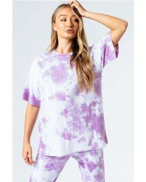 HYPE PINK TIE DYE WOMEN'S OVERSIZED T-SHIRT size: 16 UK, colour: