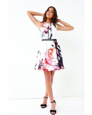 Little Mistress Print Mini Dress size: 16 UK, colour: Multi