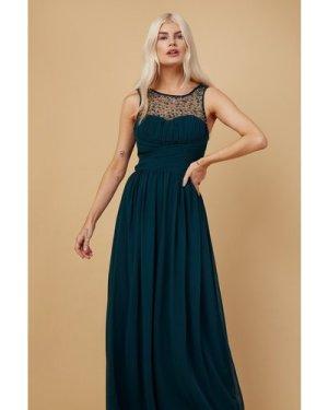 Little Mistress Grace Bridesmaid Emerald Green Embellishment Sweethear