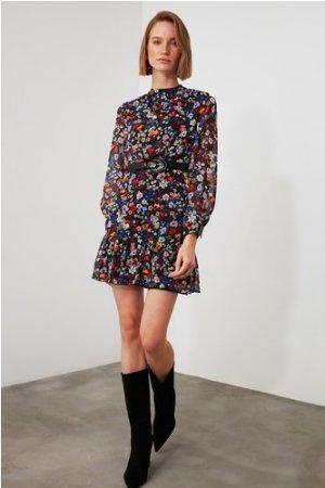 Little Mistress x Trendyol Multi-coloured Floral Printed Ruffle Dress