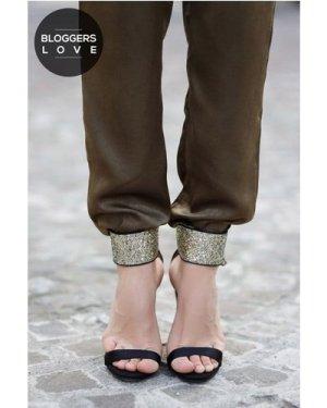 Little Mistress Black Glitter Cuff Two Strap Heels size: Footwear 4 UK