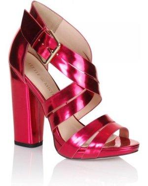 Little Mistress Pink Cross Over Multi Strap Heels size: Footwear 5 UK,