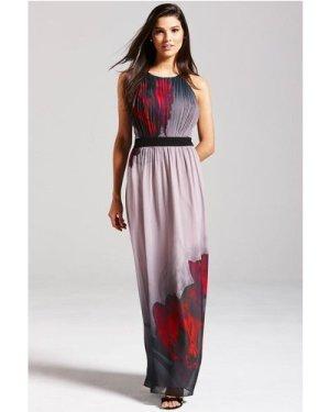 Little Mistress Black Floral Maxi Dress size: 12 UK, colour: Multi