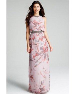 Little Mistress Oriental Floral Maxi Dress size: 8 UK, colour: Print