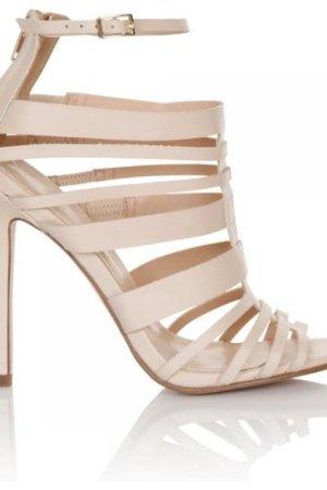 Little Mistress Nude Multi Strap peep toe heel size: Footwear 5 UK, co