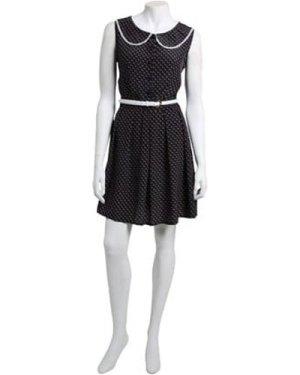 Little Mistress Navy Horse Print Skater Dress size: 12 UK, colour: Pri
