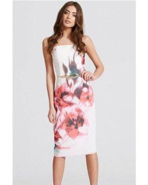 Little Mistress Blur Print Bandeau Dress size: 10 UK, colour: Floral P