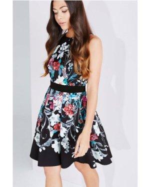 Little Mistress Bouquet Print Fit And Flare Dress size: 8 UK, colour: