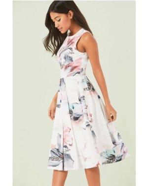 Little Mistress Floral Print Midi Dress size: 6 UK, colour: Print