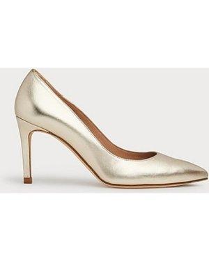 Floret Gold Soft Leather Courts, Soft Gold