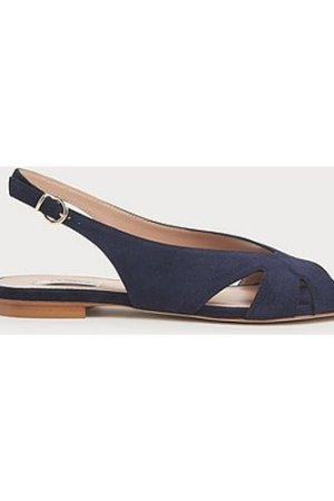 Rome Navy Suede Cut-Out Sandals, Navy