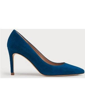 Floret Bright Teal Suede Courts, Bright Teal