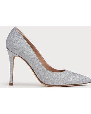 Fern Silver Fine Glitter Courts, Silver