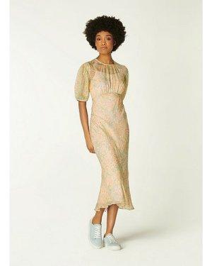 Susie Aquamarine Silk Dress, Aquamarine