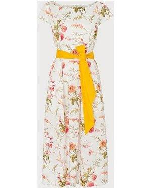 Glenda Roseau Floral Print Cotton Dress, White
