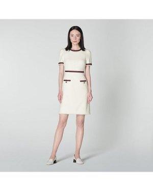 Leni Cream Tweed Dress, Cream
