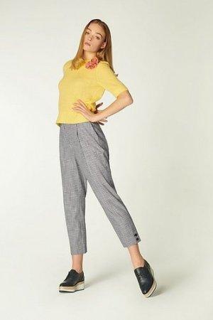 Miller Monochrome Gingham Trousers, Black White