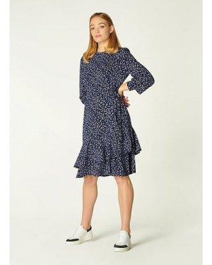 Filippa Navy Cheetah Print Jersey Dress, Midnight