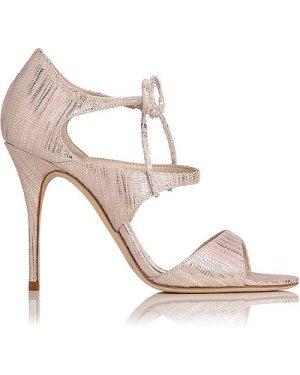 Karlie Blush Metallic Lizard Formal Sandals, Blush