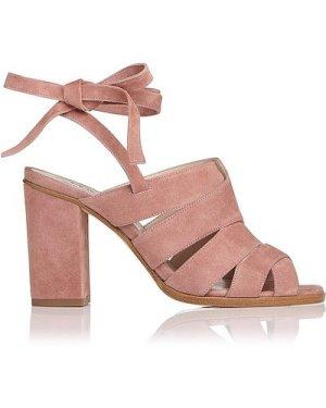 Seline Dark Pink Suede Formal Sandals, Dark Pink