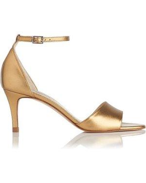 Omya Bronze Leather Formal Sandals, Bronze
