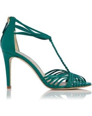 Dorothy Green Leather Sandals, Mint Leaf