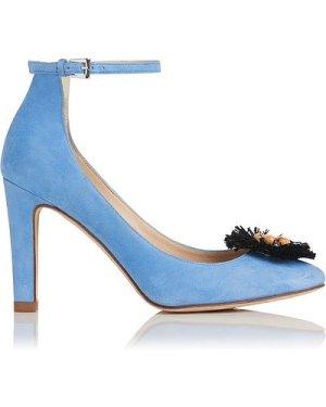 Gwen Blue Suede Courts, Powder Blue