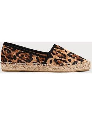 Elsie Leopard Print Calf Hair Espadrilles, Leopard Print