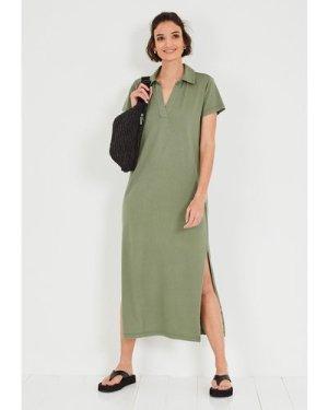 hush khaki Else Jersey Shirt Dress Khaki