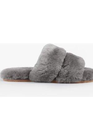 hush grey Arundel Shearling Slippers Grey