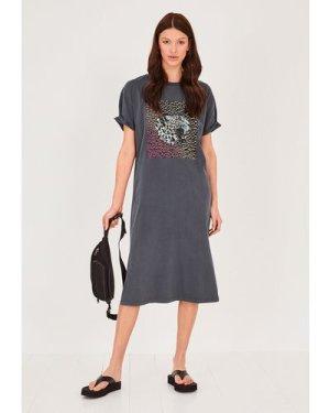 hush washed-black Tauri Jersey T-Shirt Dress Black