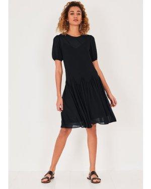 hush black Claire Bias Cut Mini Dress Black Floral