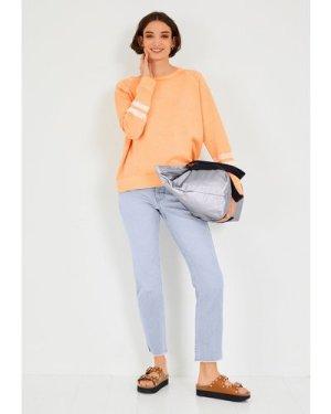 hush pastel-orange Juno Relaxed Sweatshirt Orange