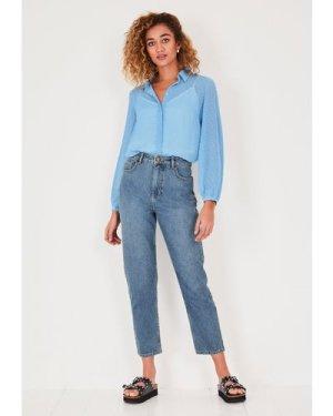 hush blue Dawn Dobby Shirt Blue