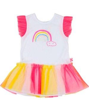 Ruffled tulle graphic dress BILLIEBLUSH INFANT GIRL
