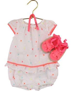 Square pattern cotton blouse BILLIEBLUSH INFANT GIRL