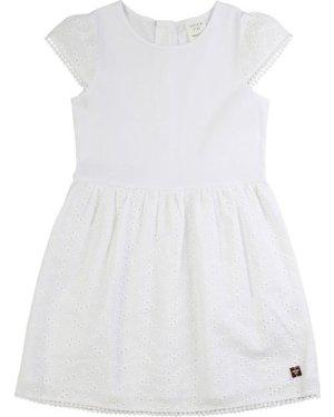 Zipped cotton dress CARREMENT BEAU KID GIRL