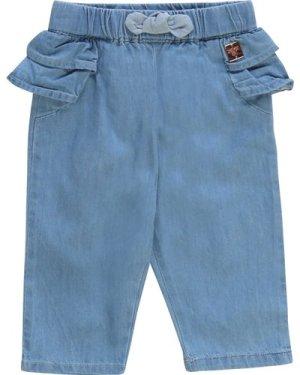 Lightweight denim trousers CARREMENT BEAU NEWBORN GIRL