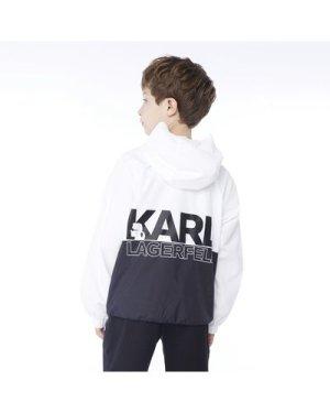 Two-toned hooded windbreaker KARL LAGERFELD KIDS KID BOY