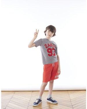 Cotton Henley-neck T-shirt ZADIG & VOLTAIRE KID BOY