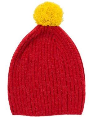Pony Pompom Alpaca Wool Hat
