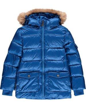 Faux Fur Mat Authentic Down Jacket