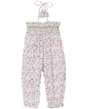 Lisa Dot Smock Jumpsuit