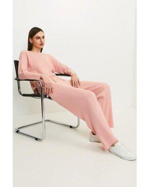 Karen Millen Cashmere Blend Jogger -, Pink