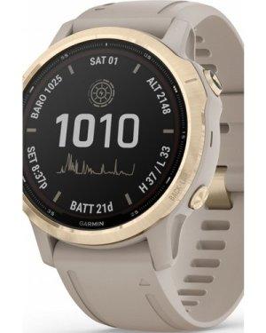 Garmin fenix 6S Pro Solar, Light Gold with Light Sand Band  Smartwatch 010-02409-11