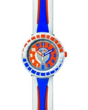 Childrens Flik Flak All Around Blue Orange Watch FCSP009